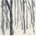 Bos, impressie (1)  (linoleumsnede, 10x10 cm, 2007)