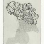 Doosje met schelpen (ets, 10x15, 2009)