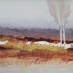 Haaksbergerveen (2) olieverf op papier, 40x60, 2005