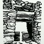 Staigue Fort  (2) zwartwit k