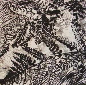 Varens (1) (linoleumsnede,  15x15 cm, 2010)
