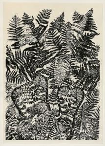Varens, impressie (Linoleumsnede, 70x100 cm, 2012))