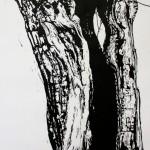 Skin deep (1) (linoleumsnede, 70x100 cm, 2013)