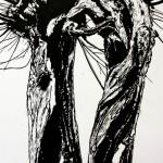 Skin deep (2) (linoleumsnede, 70x100 cm, 2013)